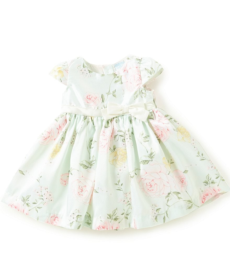 Edgehill Collection Baby Girls Newborn-24 Months Floral-Print Cap-Sleeve Dress