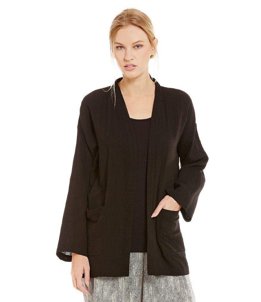 Eileen Fisher Gauze Boxy Jacket