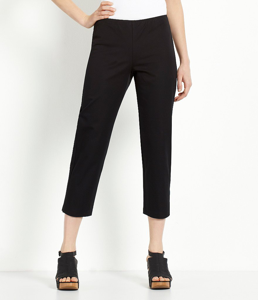 Eileen Fisher Petite Organic Cotton Ankle Pants
