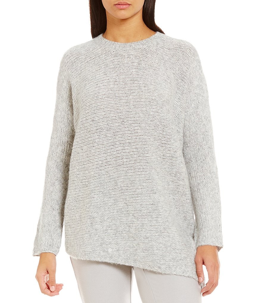 Eileen Fisher Round Neck Alpaca Wool Top