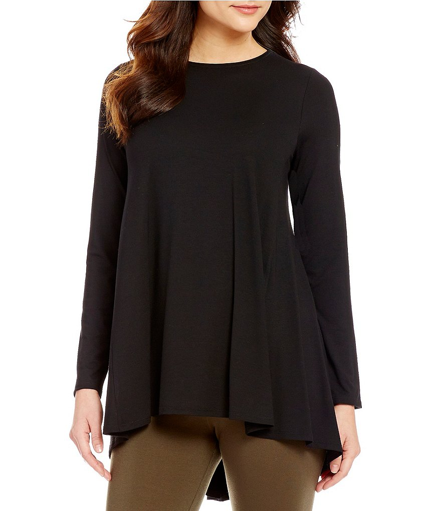 Eileen Fisher Round Neck Bracelet Sleeve Top