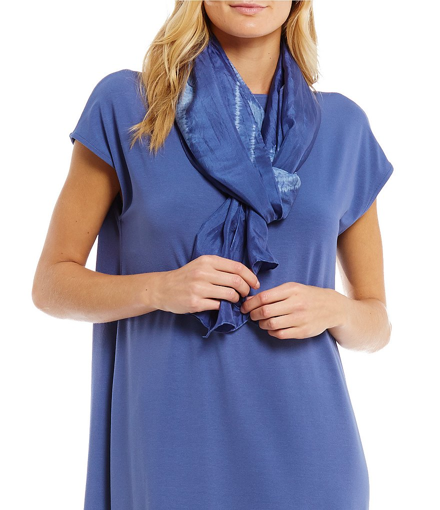Eileen Fisher Shibori Silk Movement Scarf