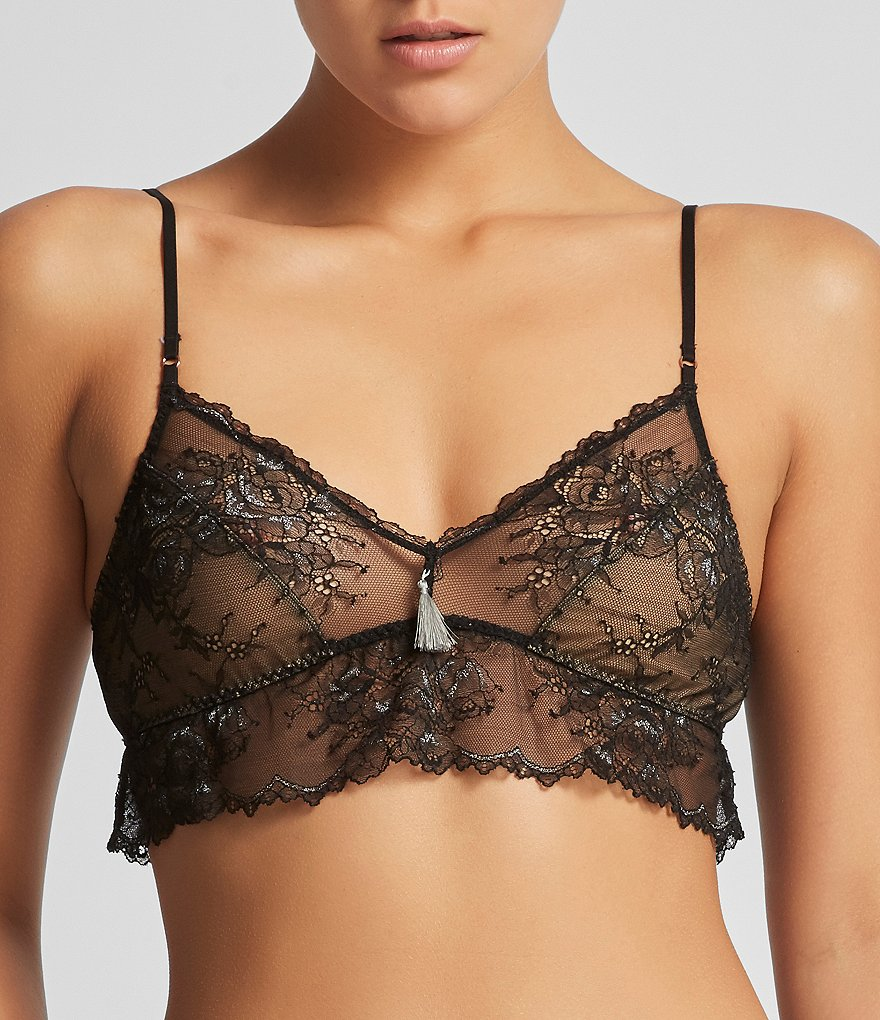 Elle Macpherson Body Lust Metallic Lace Soft Triangle Bra