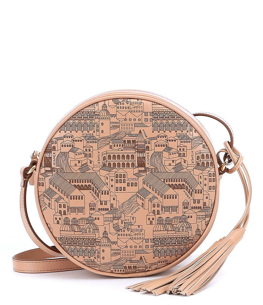 Etienne Aigner Cityscape Tasseled Canteen Cross-Body Bag