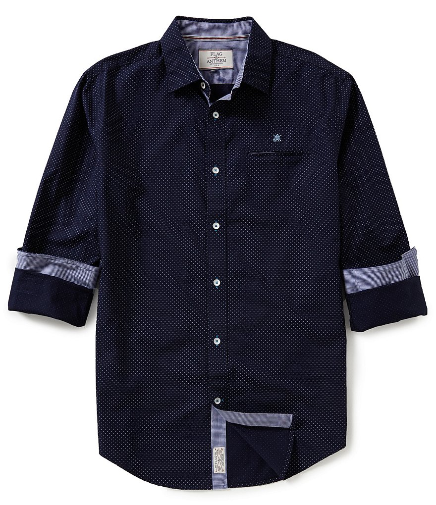 Flag & Anthem Duane Dotted Long-Sleeve Woven Shirt