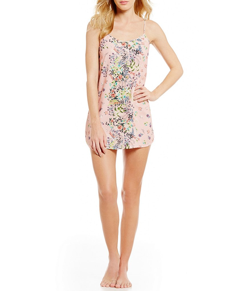 Flora Nikrooz Daylily Floral Crepe Chemise