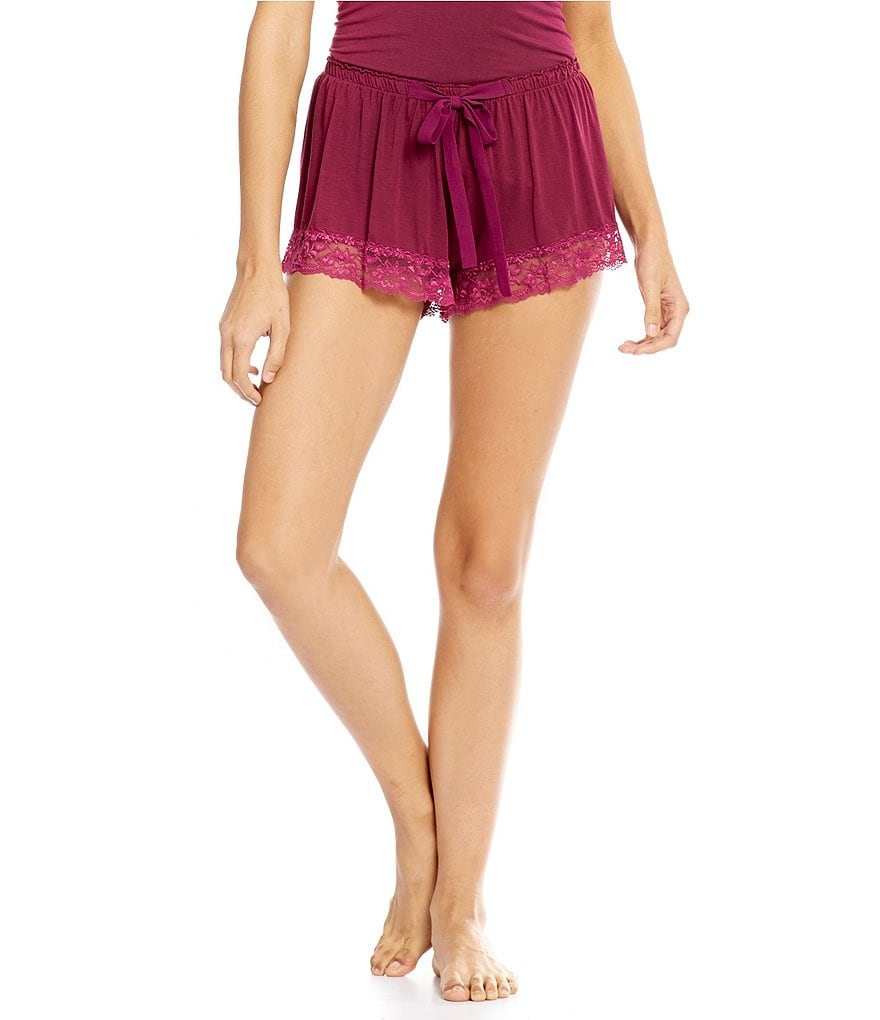 Flora Nikrooz Snuggle Lace-Trimmed Sleep Shorts