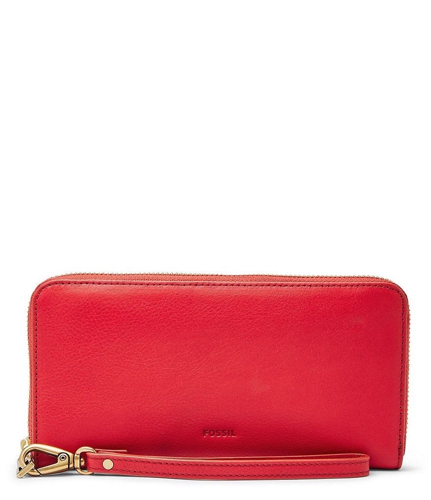 Fossil Emma RFID Large Zip Wallet