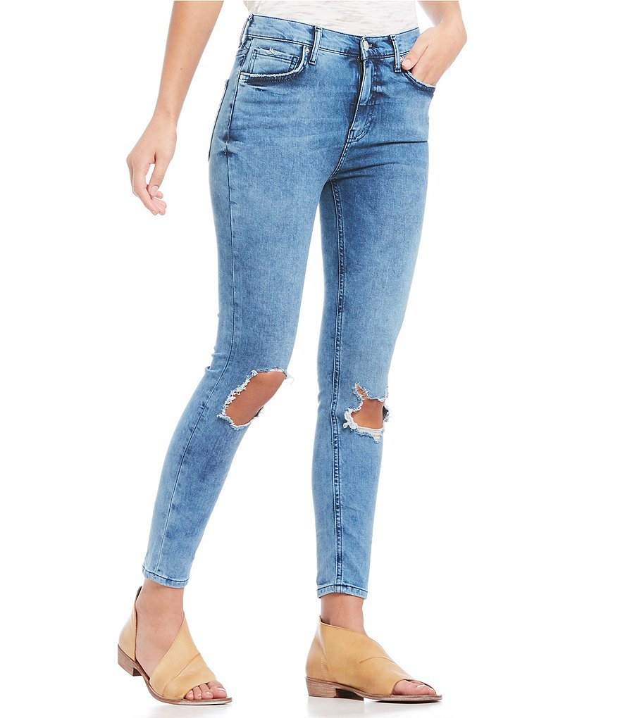 74eaa166547 FREE PEOPLE. WE THE FREE HIGH RISE BUSTED SKINNY JEAN