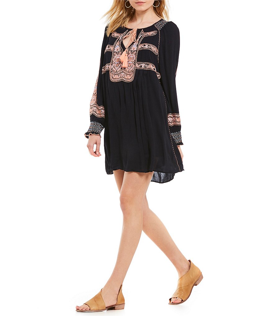 Wind Willow Embroidered Shift Mini Dress by Free People