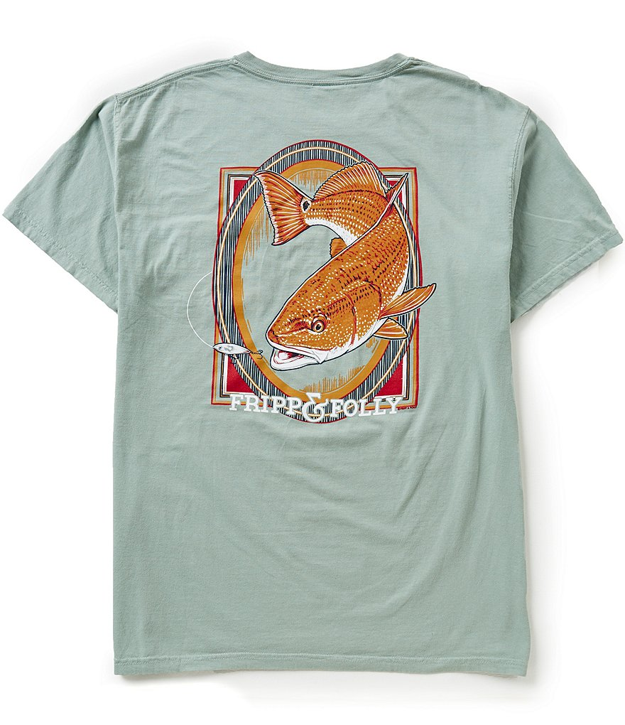 Fripp & Folly Men´s Redfish Short-Sleeve Graphic Pocket Tee