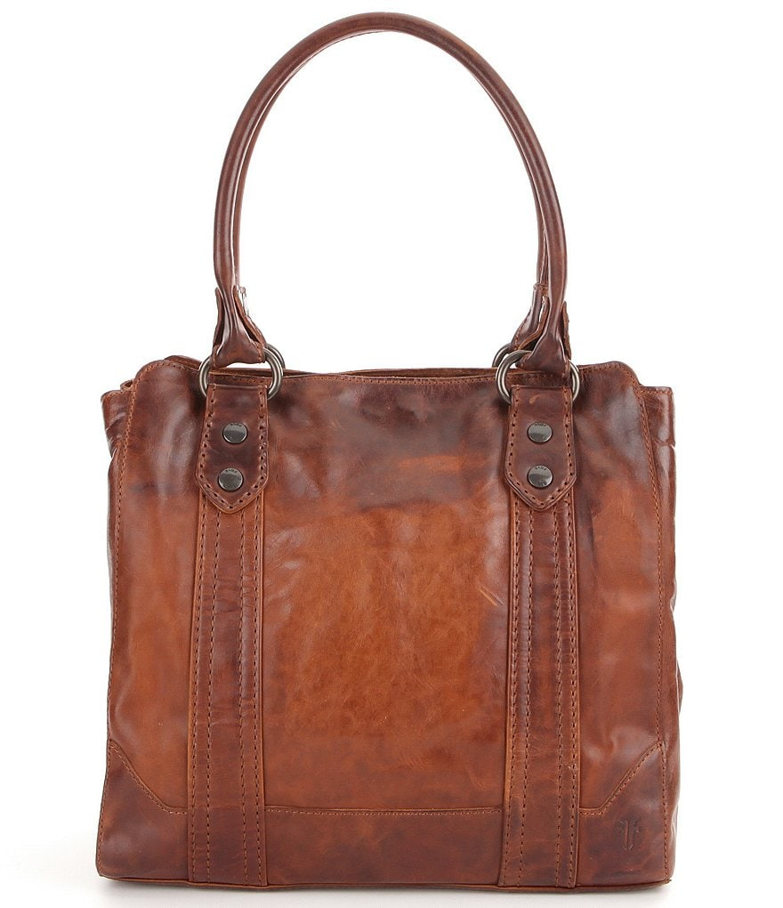Circle Track Supply >> Frye Melissa Washed Leather Tote | Dillards
