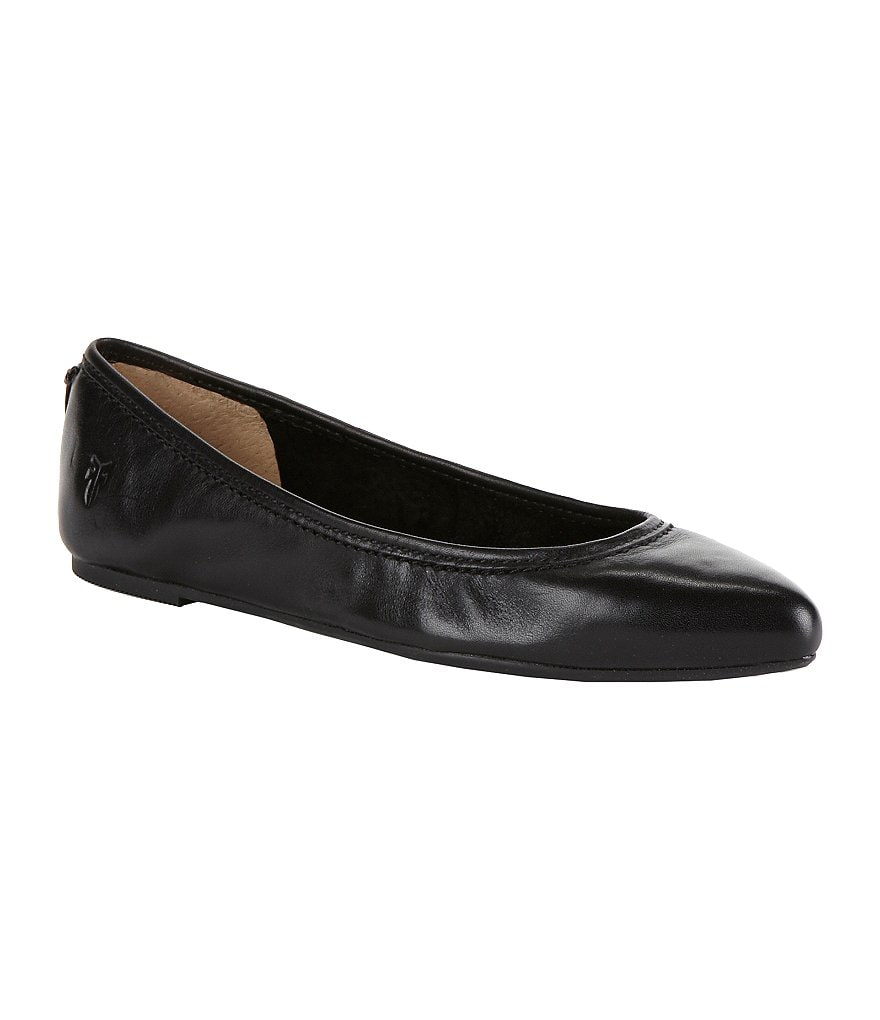 Frye Regina Pointed-Toe Leather Ballet Flats