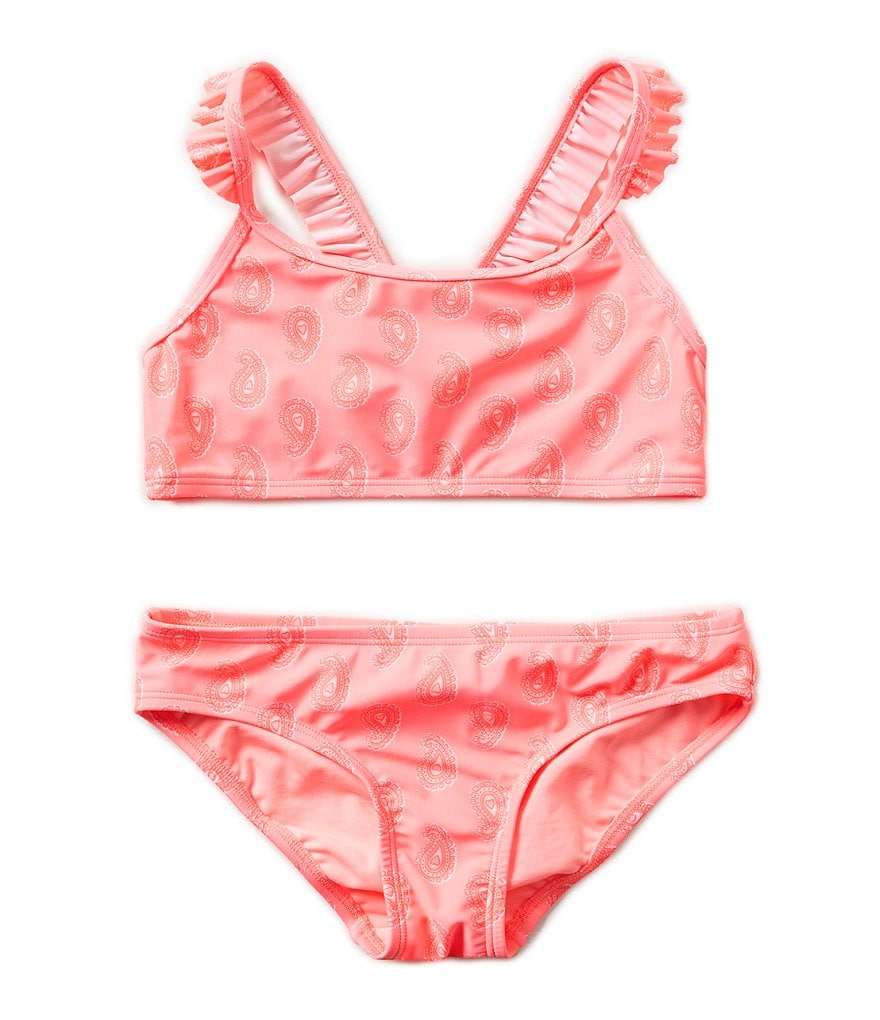 GB Girls Big Girls 7-16 Paisley Ruffle-Strap Top & Classic Bottom Set