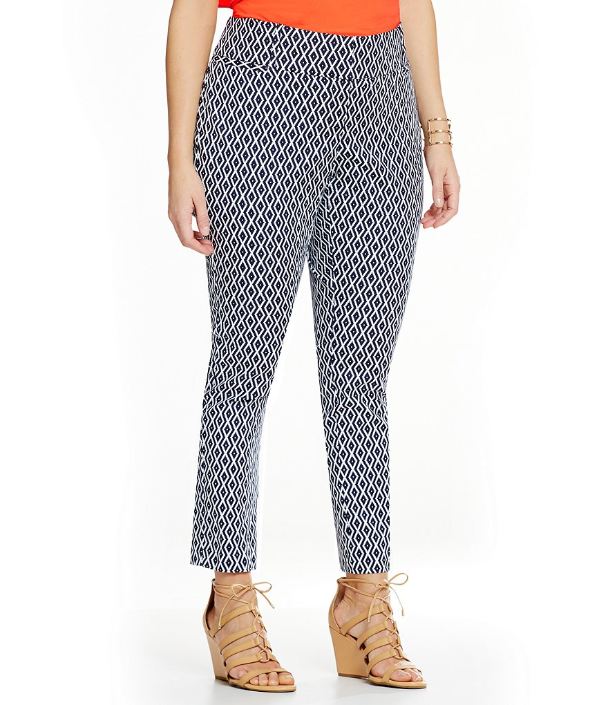 Gibson & Latimer Plus Diamond-Print Pants