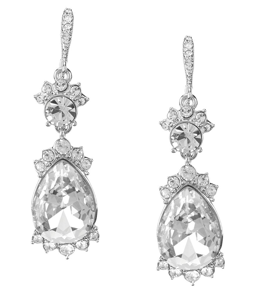 Givenchy Faux-Crystal Drop Statement Earrings