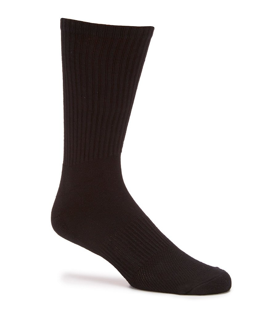 Gold Label Roundtree & Yorke Sport Performance Crew Athletic Socks 6-Pack