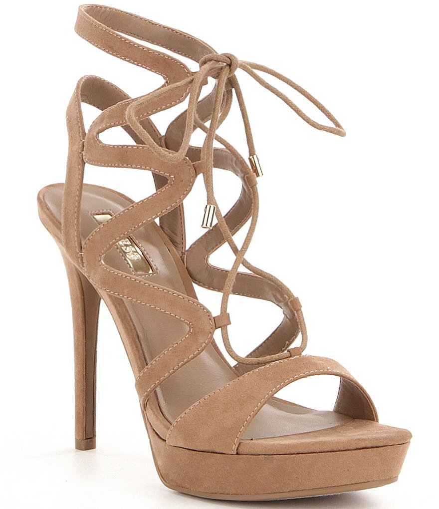 Guess Aurela3 Lace-Up Ultra High Heel Dress Sandals