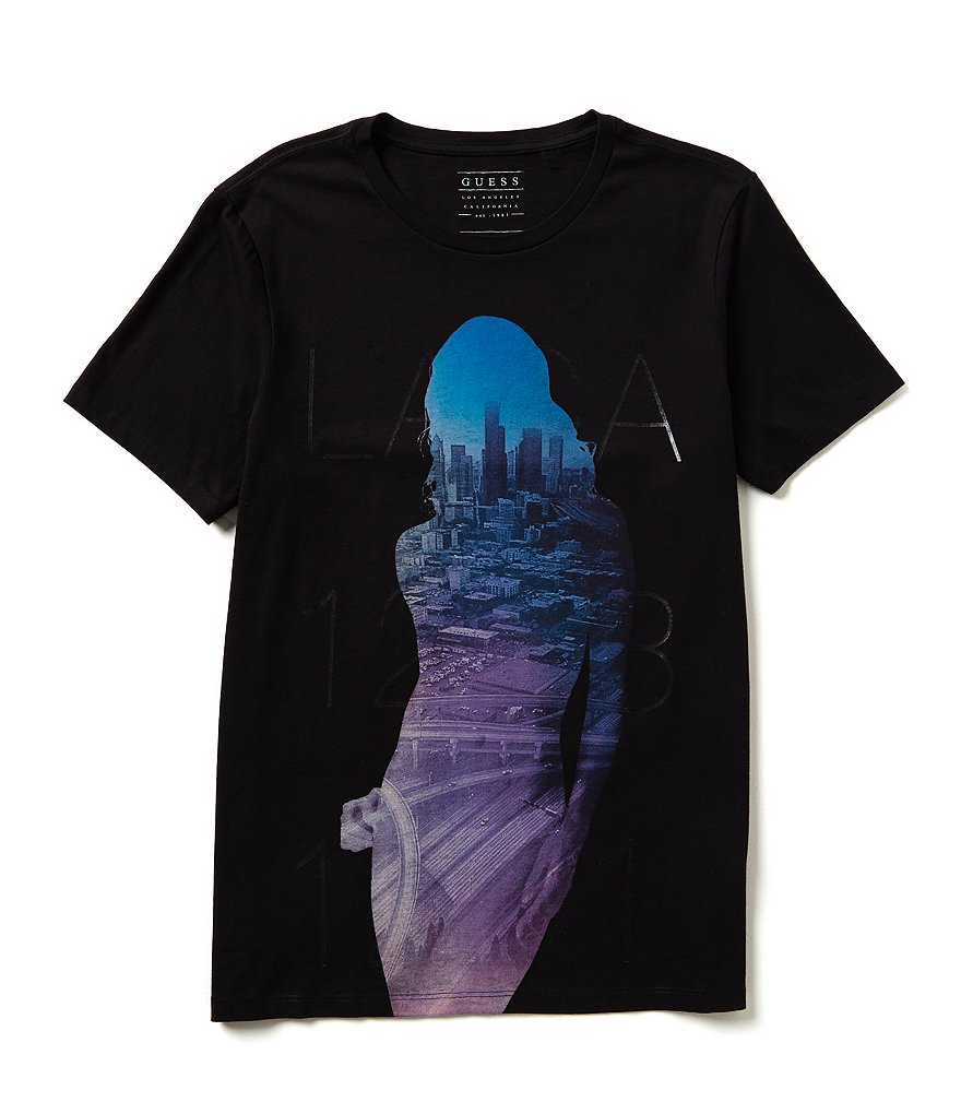 Guess Short-Sleeve City Crew Graphic Tee