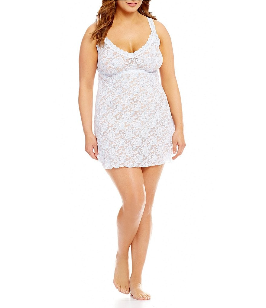 Hanky Panky Plus Cross-Dyed Lace Chemise