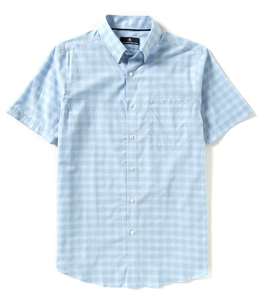 Hart Schaffner Marx Short-Sleeve Plaid Shirt