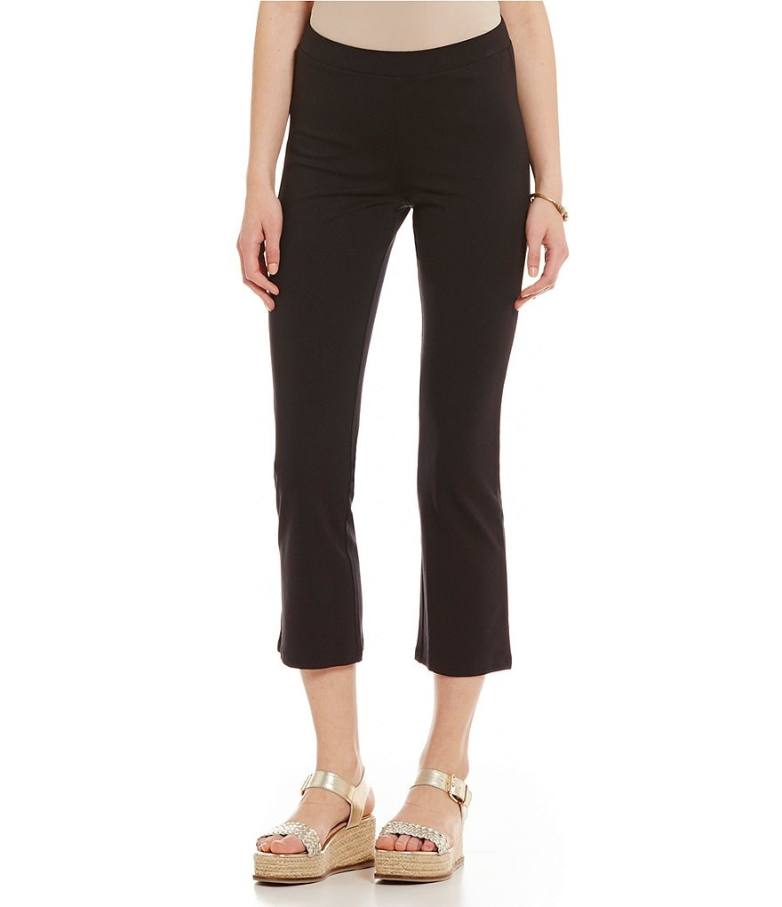 HUE Cropped Flared Leggings