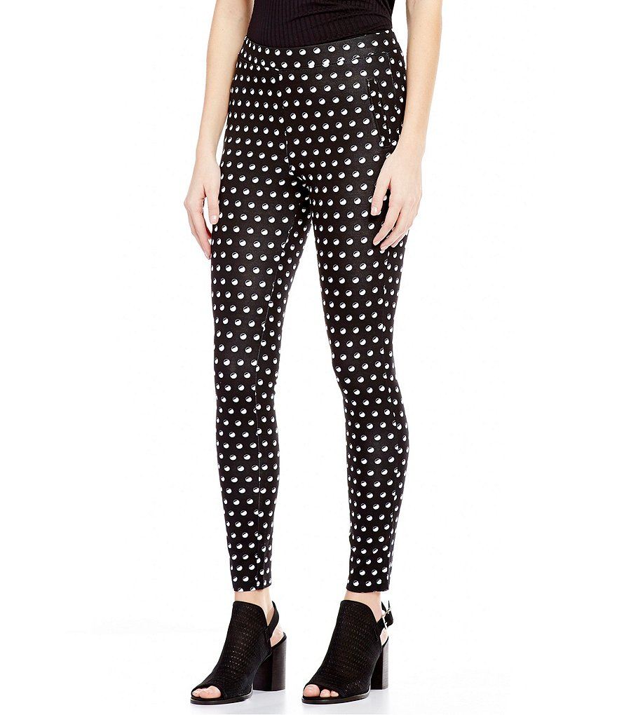 HUE Dotted Loafer Skimmer Leggings