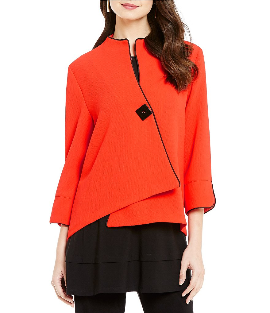 IC Collection One-Button Asymmetrical Jacket