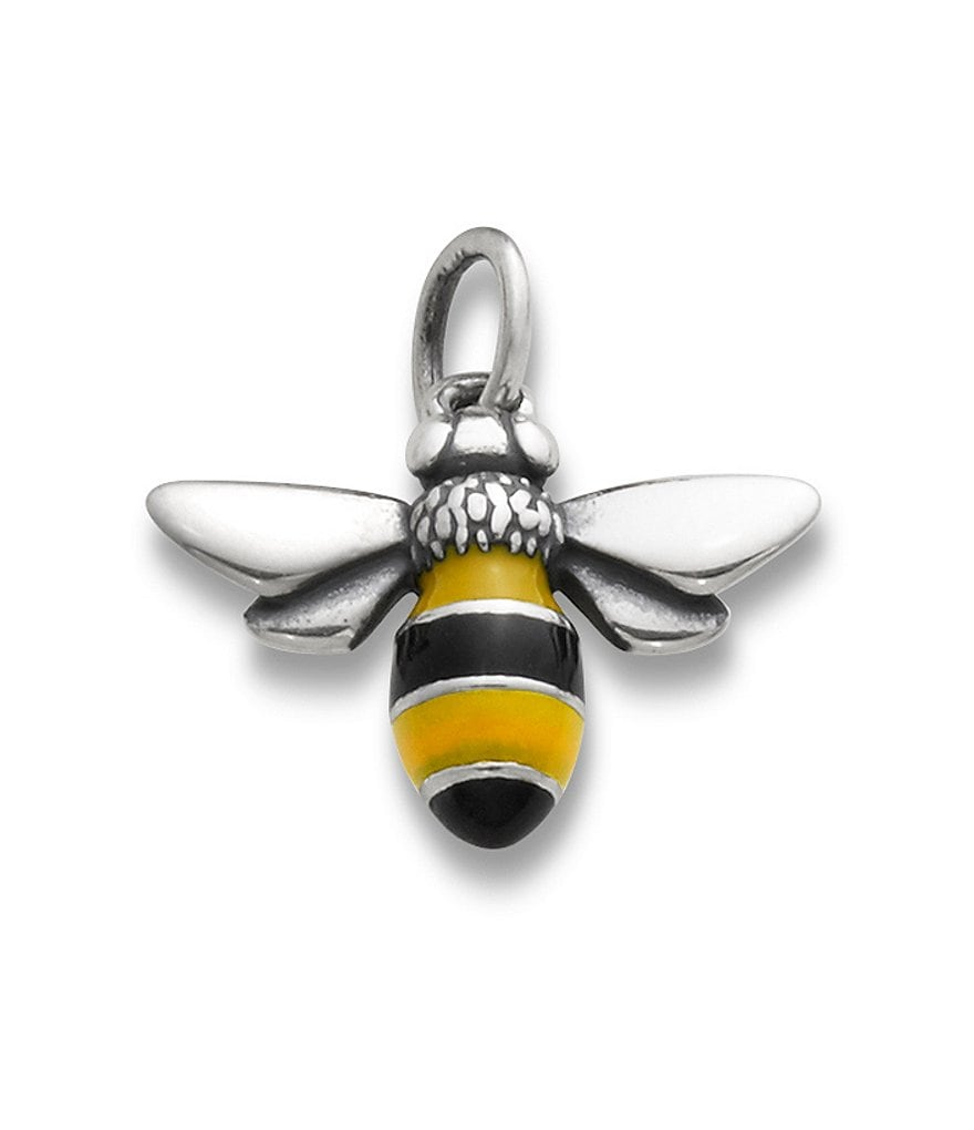 James Avery Enamel Bumble Bee Sterling Silver Charm