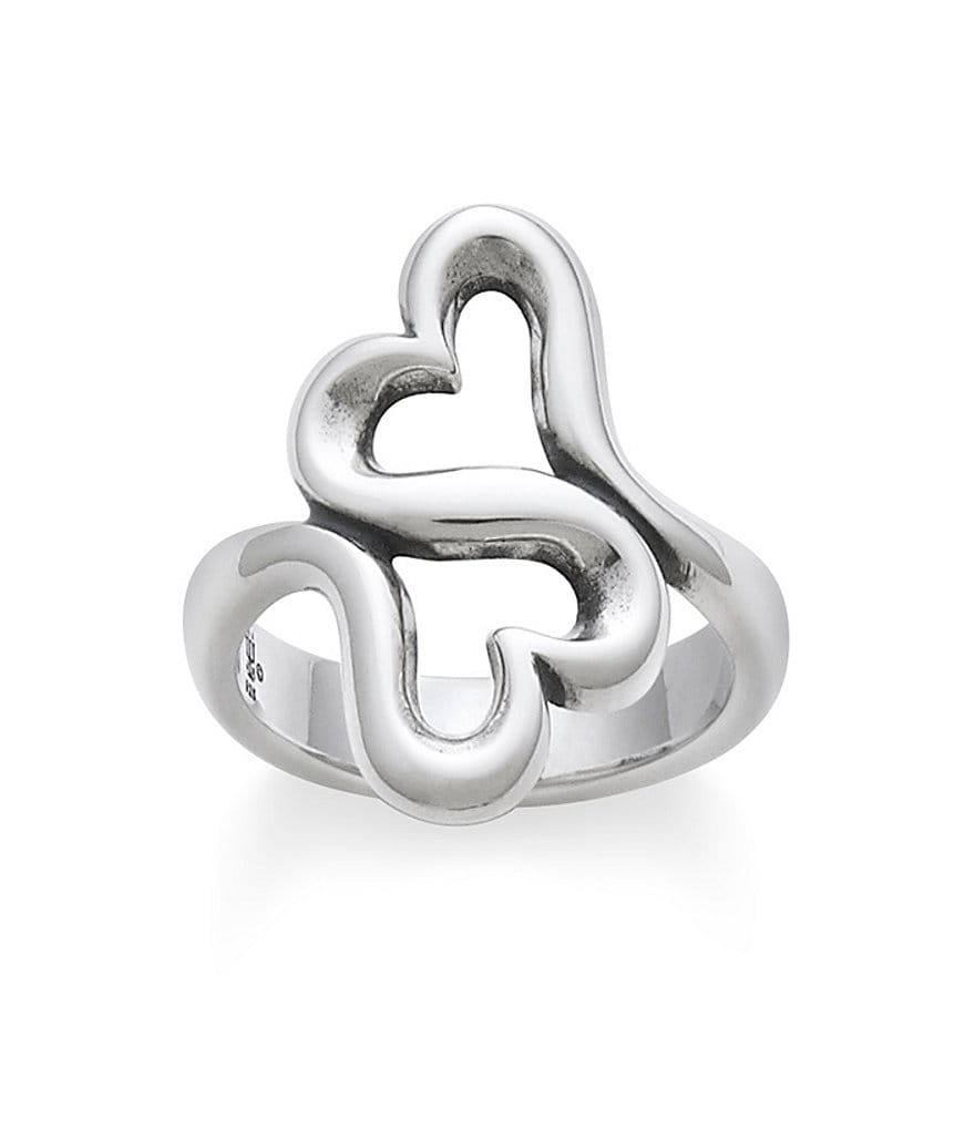 James Avery Heart To Heart Sterling Silver Ring