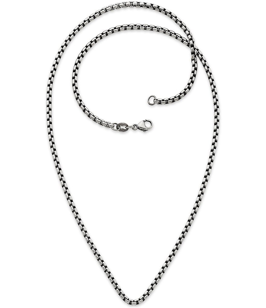 James Avery Heavy Box Chain Necklace