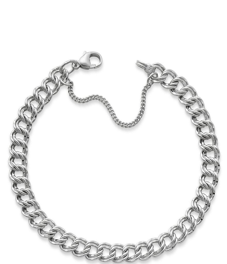 James Avery Medium Double Curb Chain Charm Bracelet