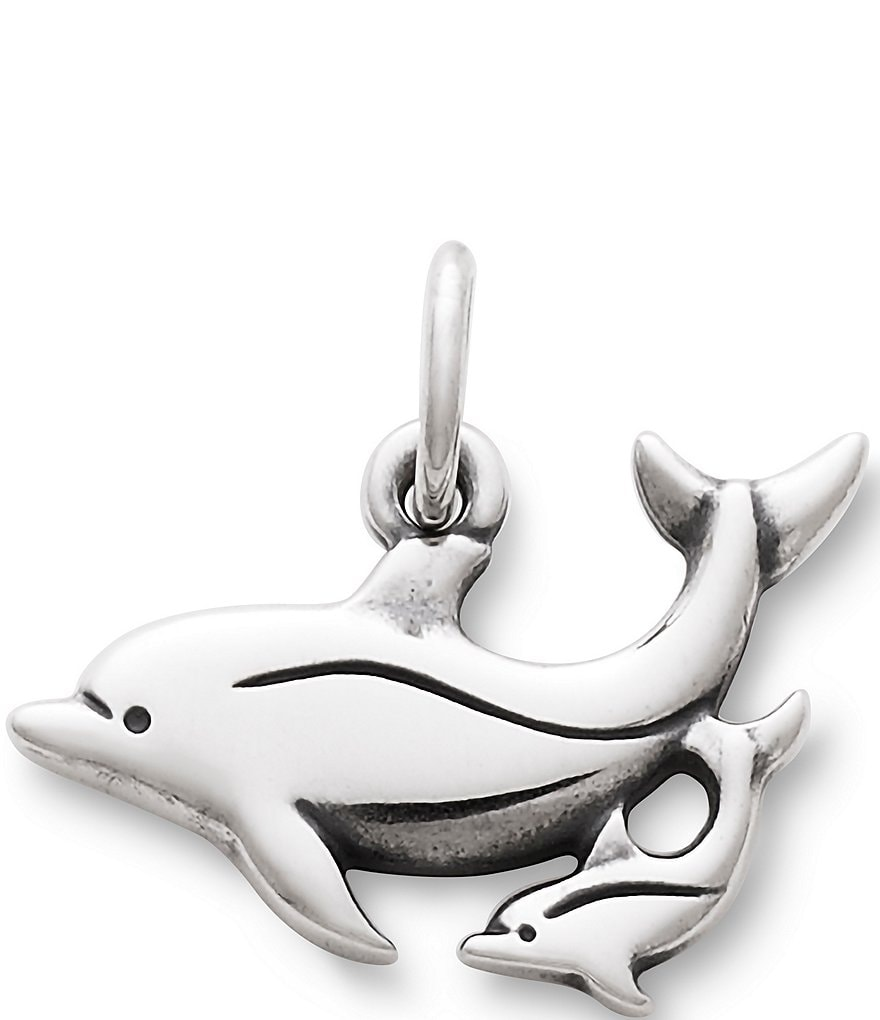 James Avery Mother and Baby Dolphin Sterling Silver Charm