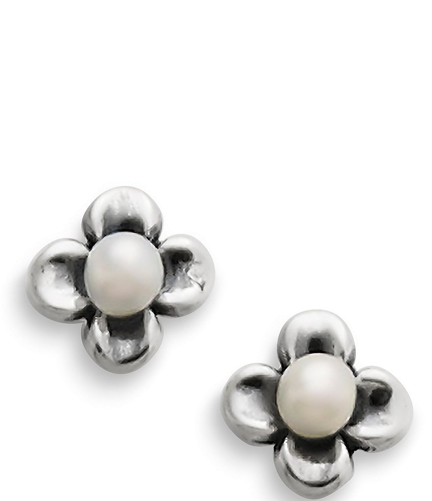 James Avery Tiny Blossom Pearl Stud Earrings