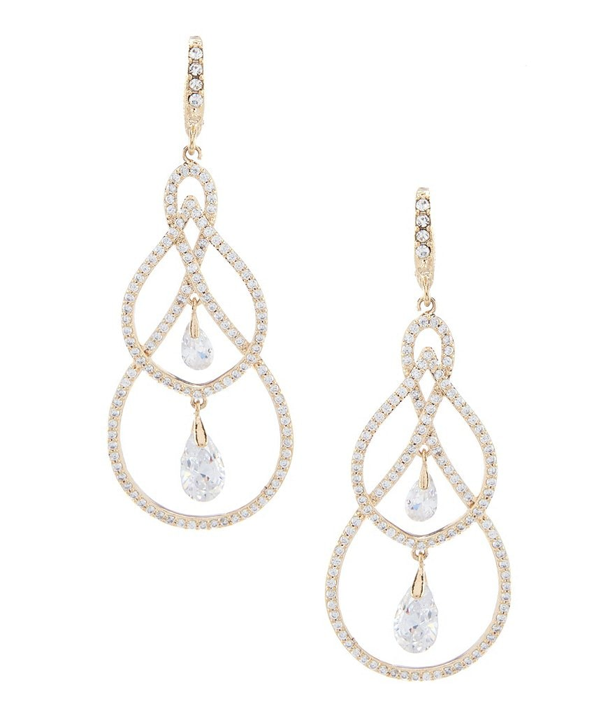 Jenny Packham Crystal Pave Orbital Earrings