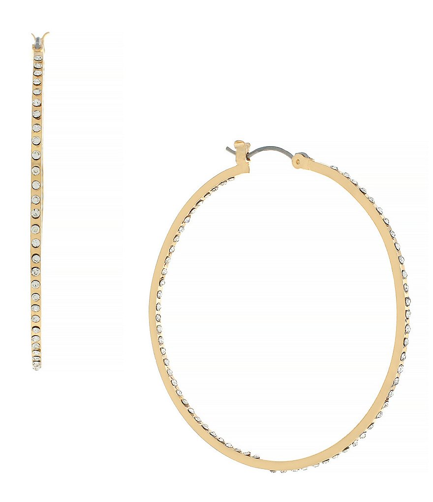 Jessica Simpson Inside Out Pavé Hoop Earrings