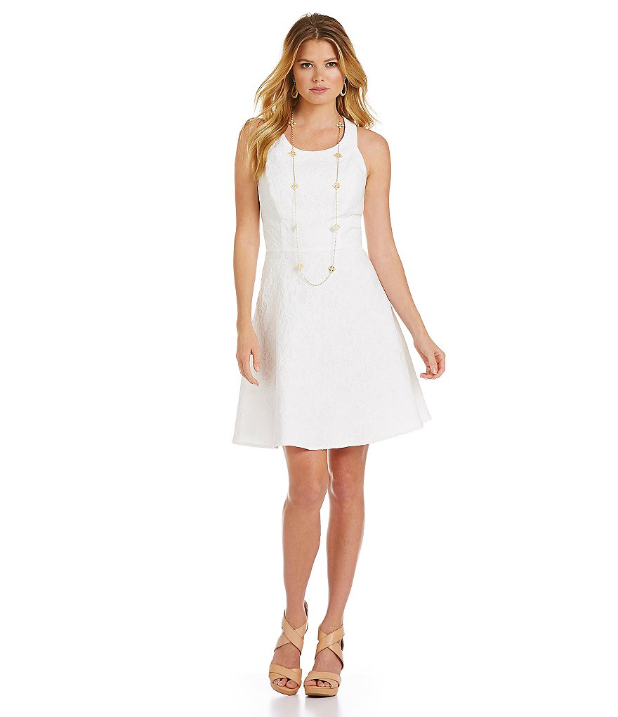 Jessica Simpson Jacquard Bow-Back Dress