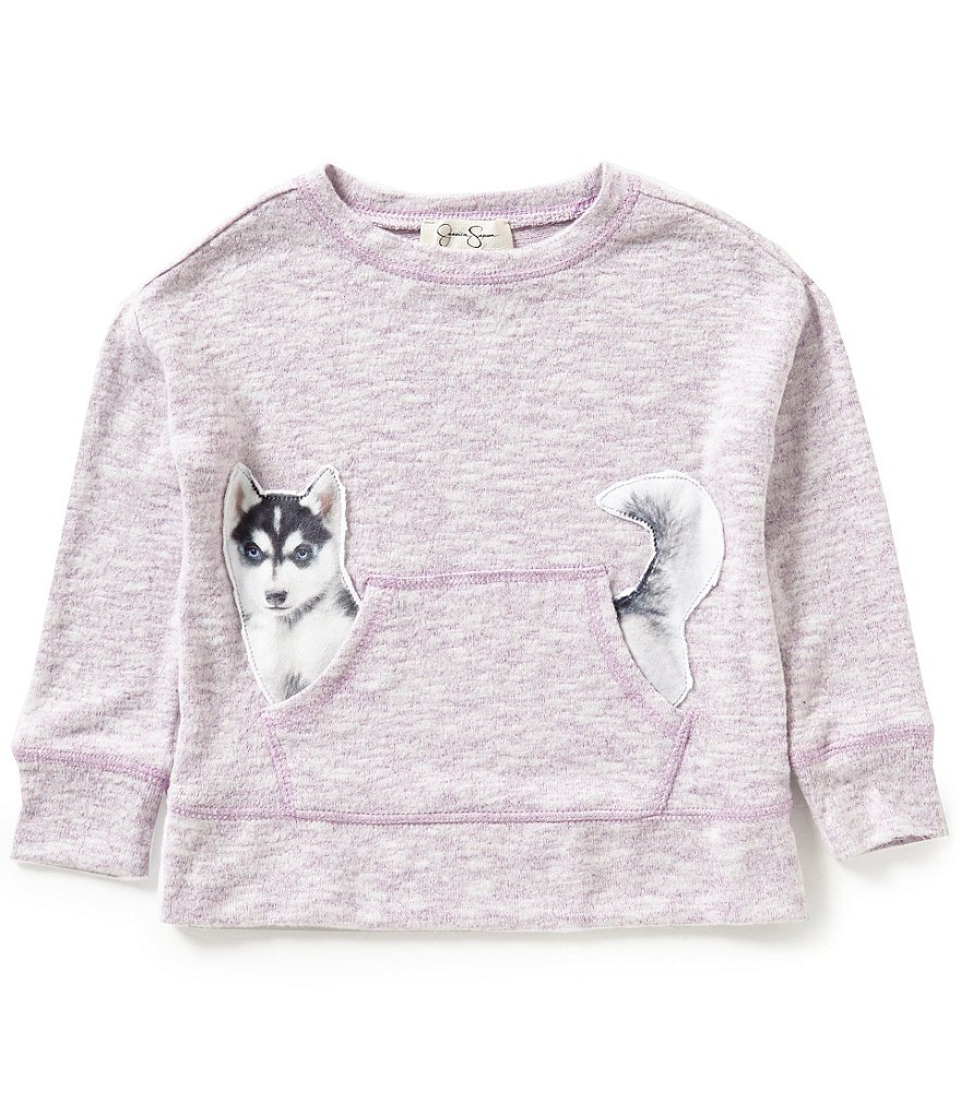 Jessica Simpson Little Girls 2T-6X Cinna Dog Long-Sleeve Top