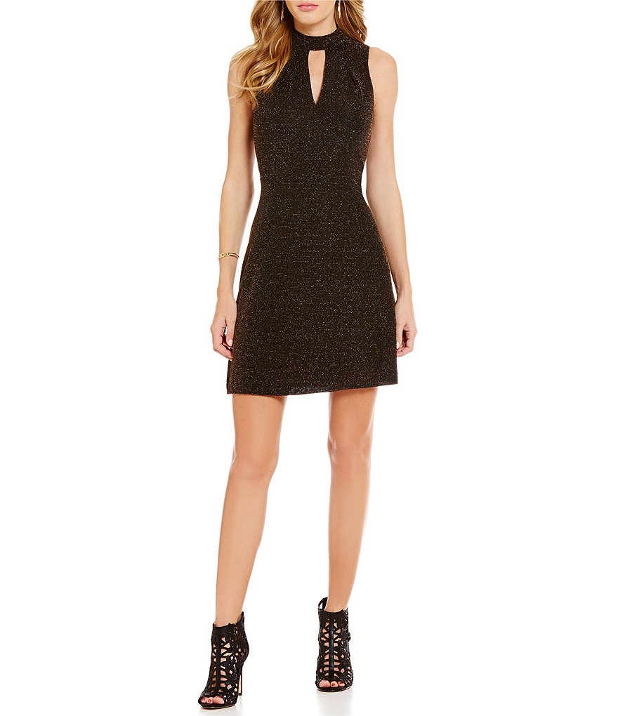 Jessica Simpson Choker Neck Sleeveless Dress