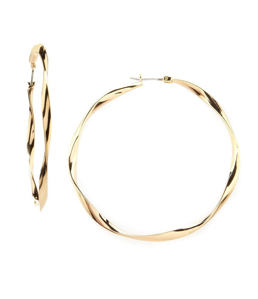 Jessica Simpson Twist Hoop Earrings