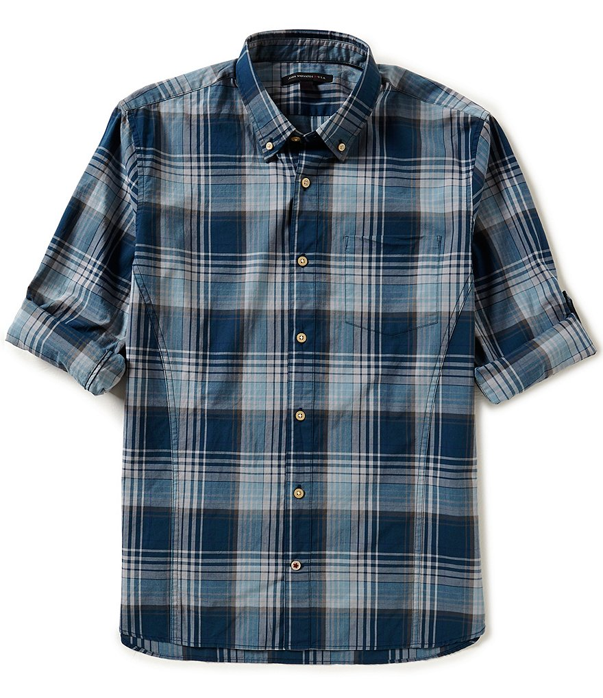 John Varvatos Star USA Slim-Fit Long-Sleeve Plaid Woven Shirt