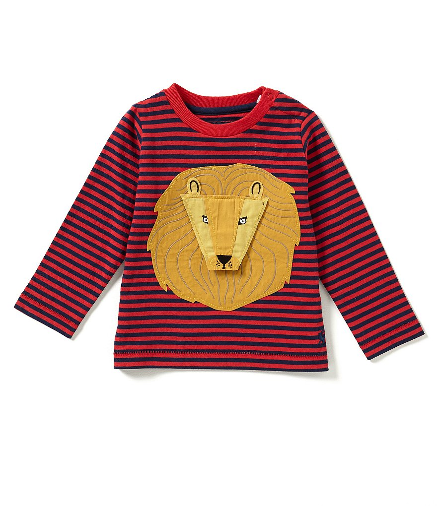 Joules Baby Boys 12 Months-3T Chomp Lion-Appliquéd Striped Top