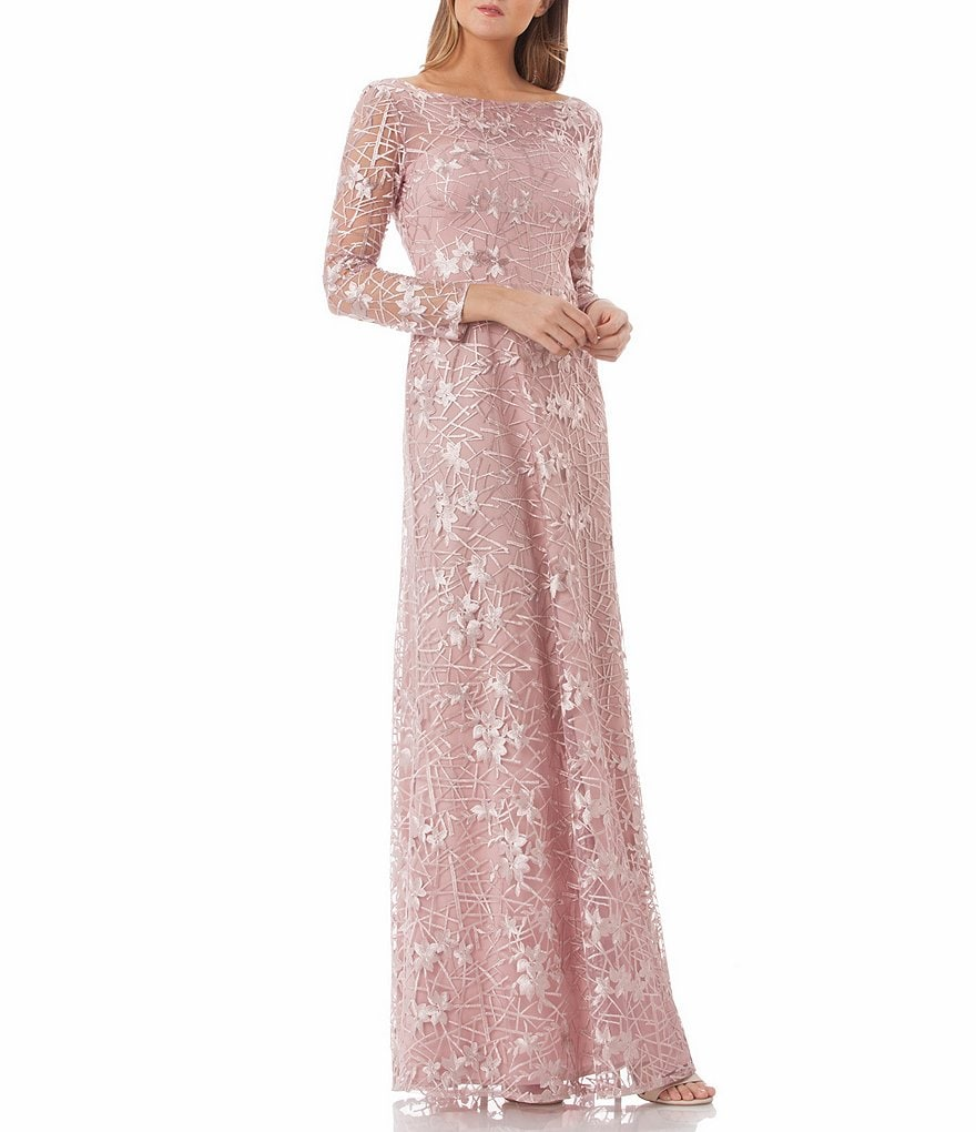Embroidered Ball Gown by Js Collections