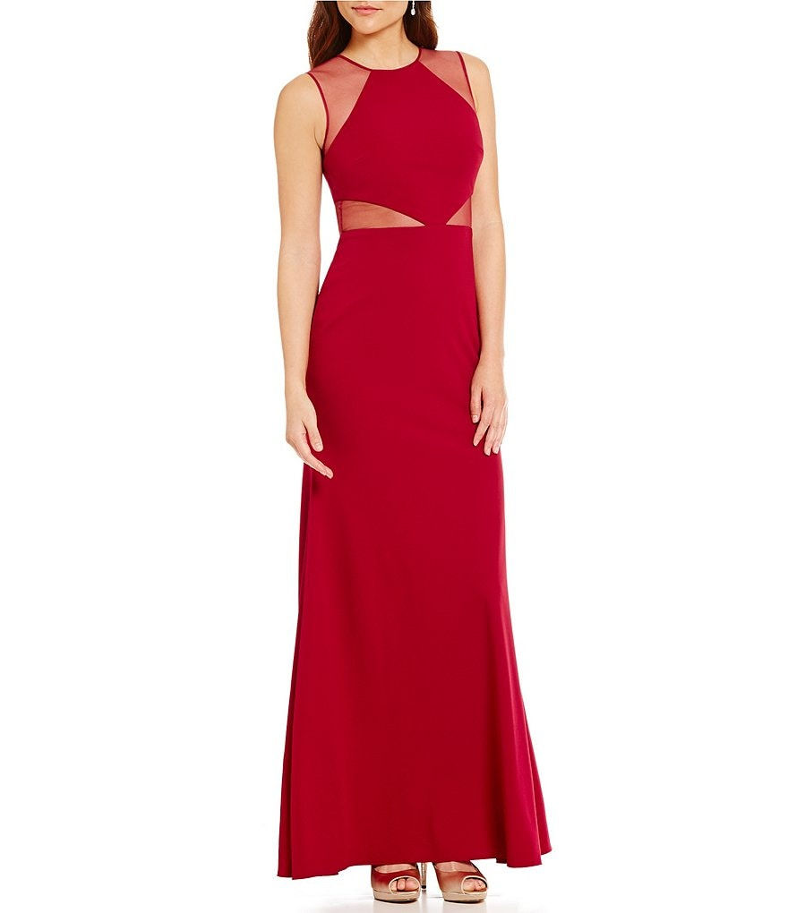 JS Collections Sleeveless Crepe Gown
