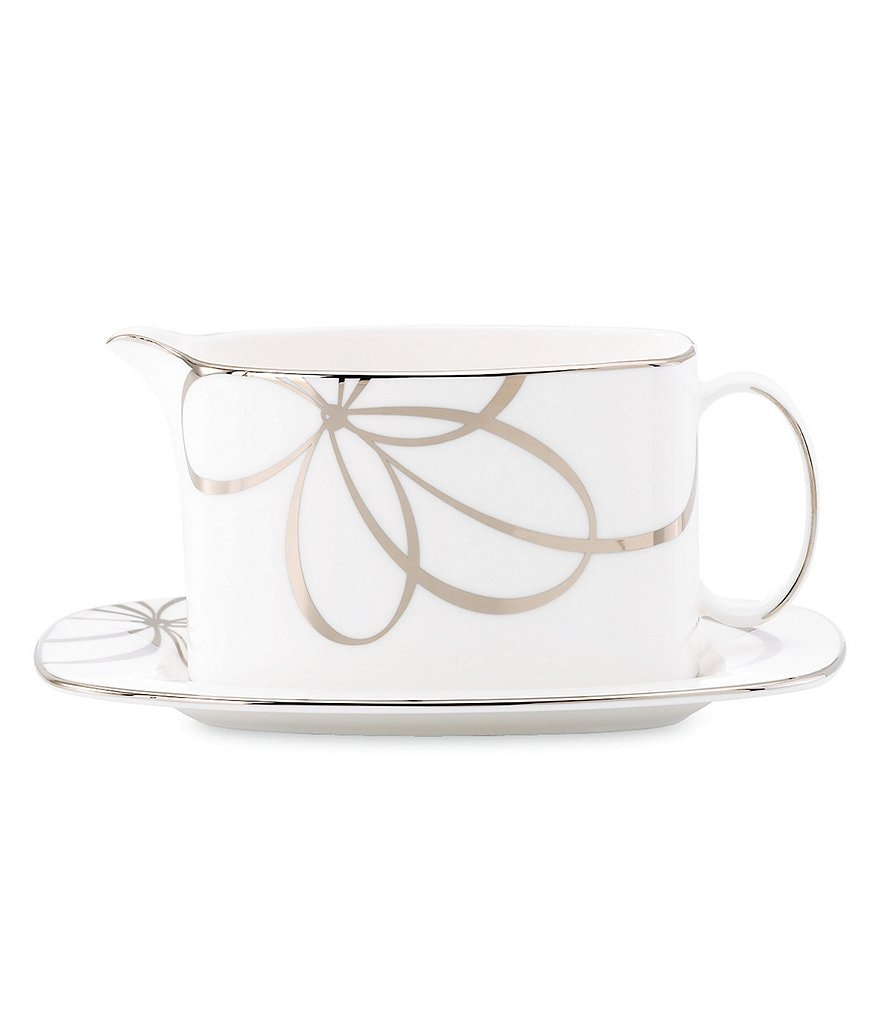kate spade new york Belle Boulevard Gravy Boat with Stand