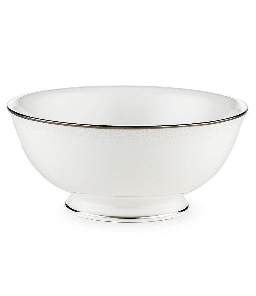 kate spade new york Cypress Point Striped Platinum Fruit Bowl