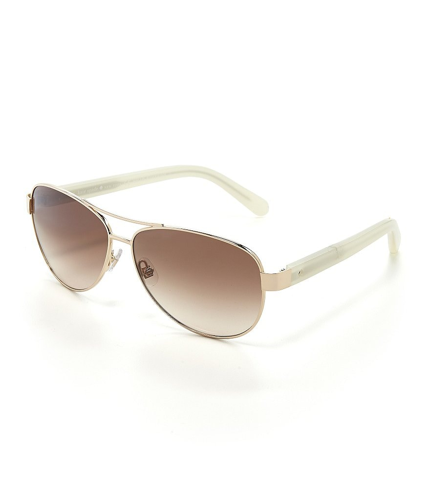 kate spade new york Dalia 2 Double Bridge Aviator Sunglasses