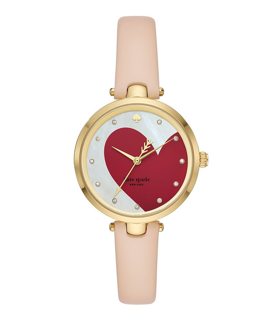 kate spade new york Holland Three-Hand Vachetta Leather Watch