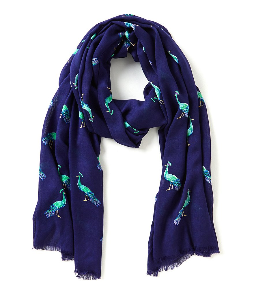 kate spade new york Peacock Oblong Scarf