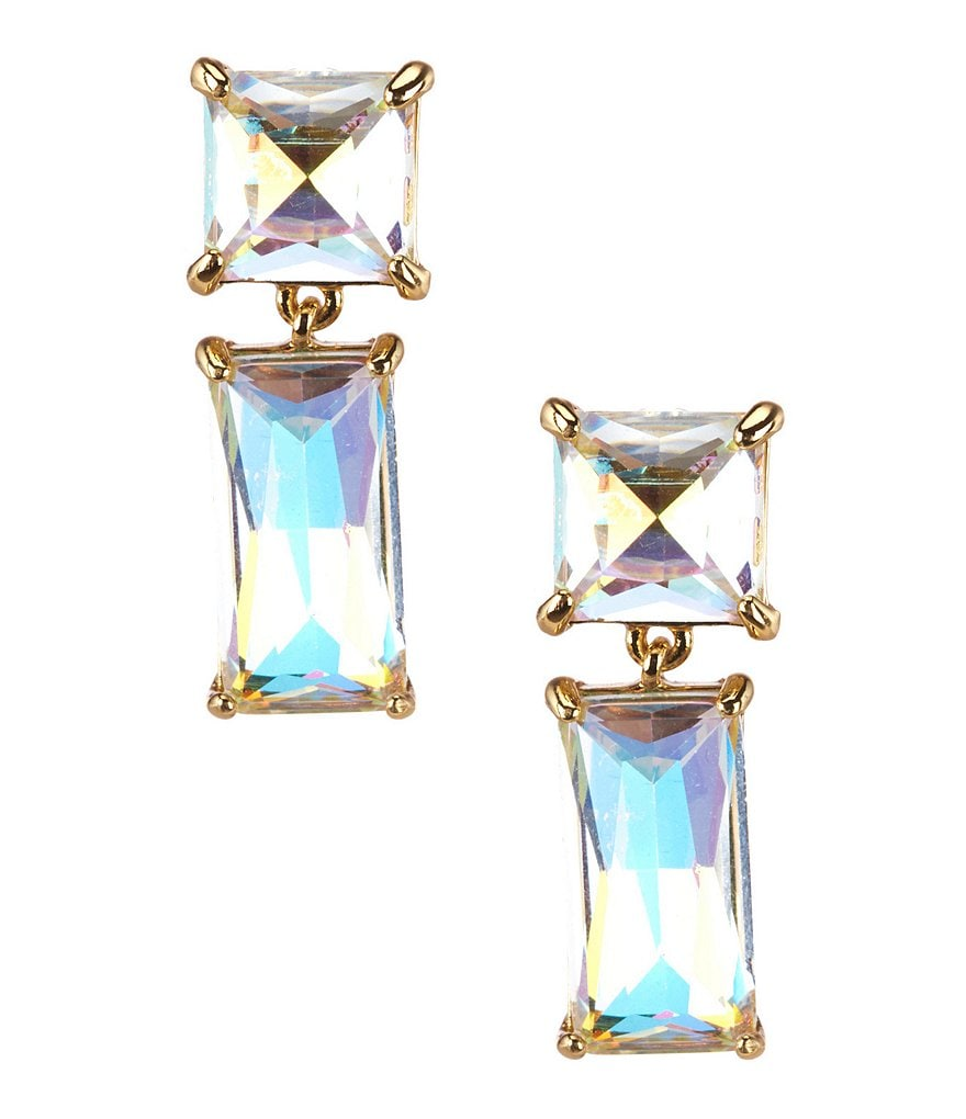 kate spade new york Shine On Baguette Drop Earrings
